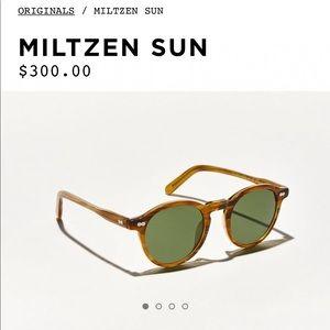 Moscot Miltzen blonde sunglasses